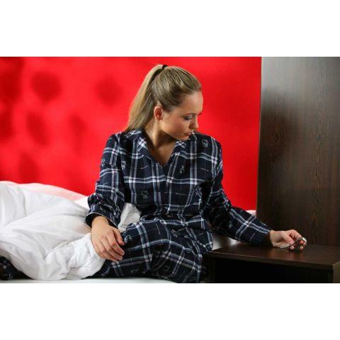 dfe4bbba6 Pyžamo dámské Kristýna - kostka s motivem > Nadměrné velikosti > <b ...